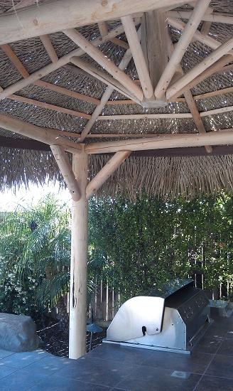 18 Foot Round Diameter Mexican Palm Tiki Hut Palapa 4 Posts