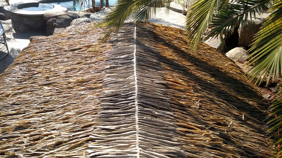 Palmex Synthetic Thatch Roof Ridge Cap 38 Inch Wide X 28
