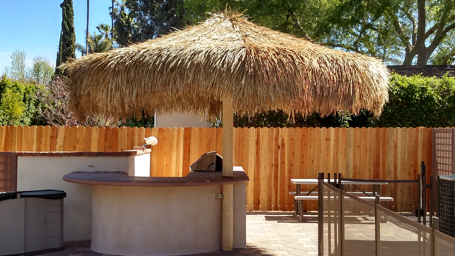 14 Foot Mexican Palm Palapa Round