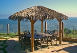 14 Foot Round Palmex Synthetic Palm Tiki Hut/Palapa - 4 Posts