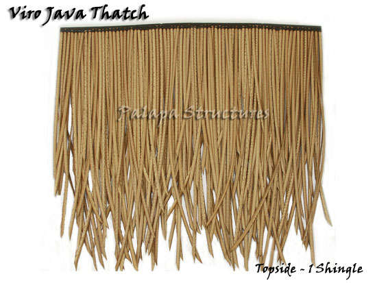 Viro Java Synthetic Thatch Subroof Shingle 3 Ply 31x22