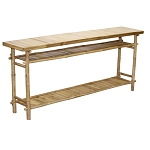 Bamboo Long Hallway/Sofa Table 71x14x30