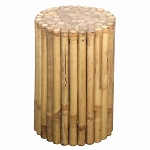 Bamboo Round Side Table Stool 12x18