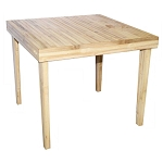 Baroque Bamboo Square Dining Table 35.5x35.5x29.5