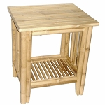 Fancy Bamboo Side Table 22x18x24