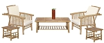 Bamboo Mikong Chair and Coffee Table Set (6 piece)