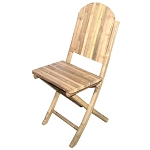 Bamboo Solid Folding Chairs (set 2)