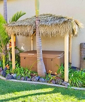 10ft. x 10ft. Square Mexican Palm Tiki Hut/Palapa - 4 Posts