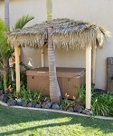 8ft. x 8ft. Mexican Palm Tiki Hut/Palapa - 4 Posts