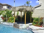 14 Foot Round/Diameter Mexican Palm Tiki Hut/Palapa - 4 Posts