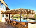 12ft. x 24ft. Oval Mexican Palm Palapa - 2 Posts