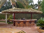 13x25 Foot Oval Tahitian Palm Palapa - 2 Pole