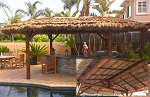 13x25 Foot Oval Tahitian PalmTiki Hut/Palapa - 4 Posts