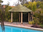 10.5 Foot Round/Diameter African Reed Tiki Hut/Palapa - 4 Posts - Standard Options