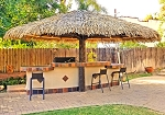 18 Foot Palmex Synthetic Palm Palapa - Round on Single Pole