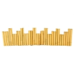 Bamboo Planter Boarder - 1.25in x 1ft x 8ft (4 pack)