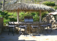 12ft. x 24ft. Oval Palmex Synthetic Palm Palapa - 2 Post