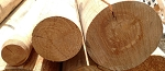 4 Inch x 12 Foot Round Pine Wood Poles - 4 Pack