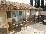 7ft. x 14ft. Oval Mexican Palm Palapa - 2 Posts
