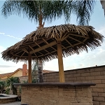 7ft. x 14ft. Oval Palmex Synthetic Palm Palapa - 2 Post