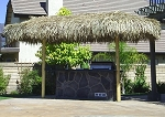 9ft. x 18ft. Oval Mexican Palm Palapa - 2 Posts