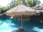 7 Foot Bamboo Folding Palapa Umbrella