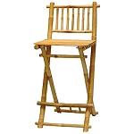 Bamboo Folding Bar Chair Stool (set 2)