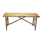 Long Bamboo Folding Table 63x20x28