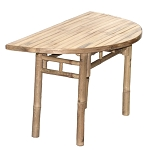 Half Moon Bamboo Table