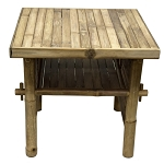 Jakarta Bamboo Side Table 18x18x17.25
