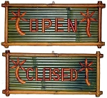 Open/Closed Bamboo Sign 10x20