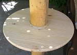18 Inch Pine Round Table w/6