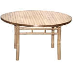 Round Bamboo Table 35x20