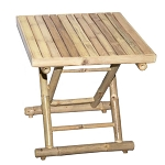 Small Square Folding Bamboo Table 18x18x19