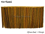 Viro African Reed Synthetic Thatch Umbrella Shingle, 31x17 Inches