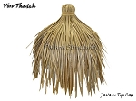 Viro Java Round Synthetic Thatch Top Cap - 36 inch Diameter