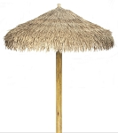 10 Foot Viro Java Synthetic Palm Palapa - Round Single Pole