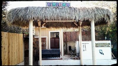 7x14 Foot Oval Mexican Palm Tiki Hut Palapa 4 Posts
