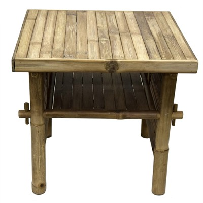 Bamboo End Table 18x18x18