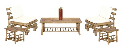 Bamboo Payang Chair Coffee Table Set (6 piece)