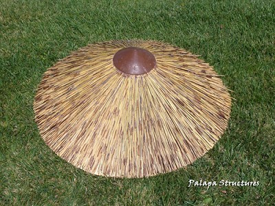 African Reed Thatch Round Roof Cap