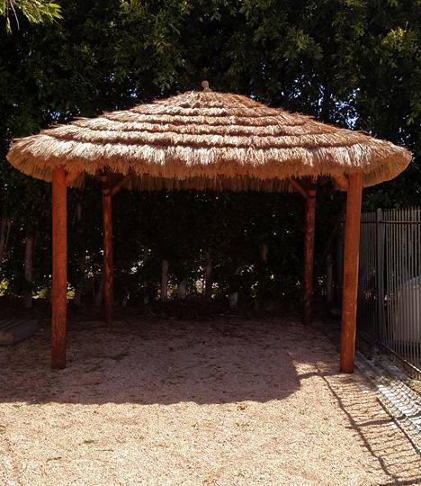 12x12 Foot Tahitian Palm Tiki Hut