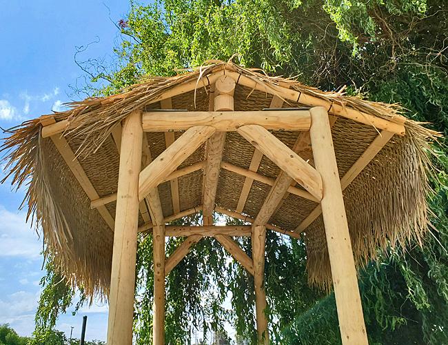 6ft X 8ft Mex Gable Roof Palm Tiki