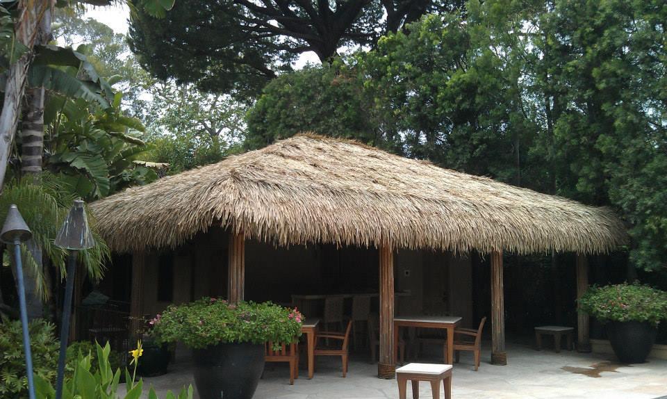 Mexican Palm Thatch Palapa Tiki Hut Roof