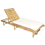 Bamboo Chase Lounger Sunbed 79x26