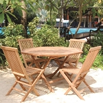 Teak Patio Set Octagonal Table (5pc)