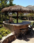 12 Foot Palmex Palapa w/ Canyon Brown Stain & 1/2 inch Rope
