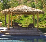 18 Foot Round/Diameter Mexican Palm Tiki Hut/Palapa - 4 Posts