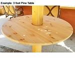 3 ft Round Pine Table