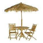 4 pc Bamboo Palapa and Table Set